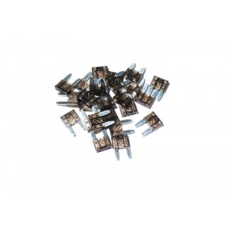 Lot de 10 mini fusibles lamellaire marron 7.5A