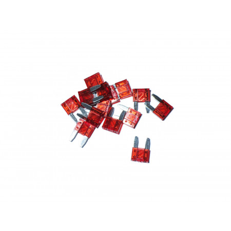 Lot de 10 Mini fusibles rouge 10A