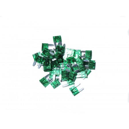 Lot de 10 Mini fusibles vert 30A