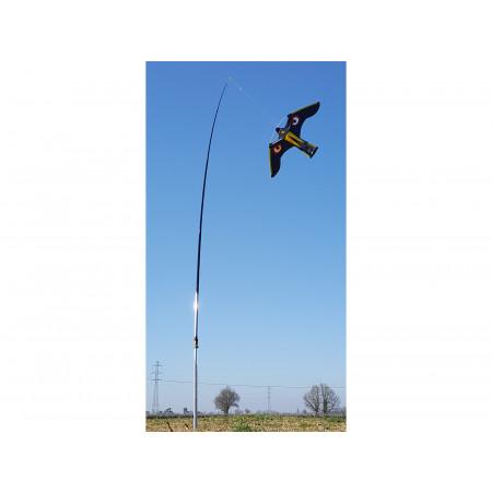 Cerf-volant effaroucheur aigle pivot mat 4m