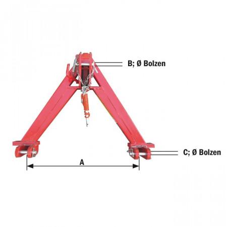 Triangle d'attelage côté tracteur