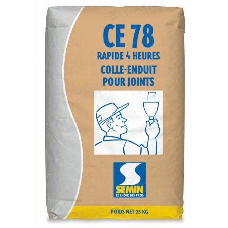 Colle-enduit CE 78 rapide 4h SEMIN 25kg