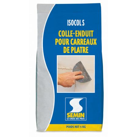 Colle enduit pour carreaux de plâtre ISOCOL SUPER 5kg