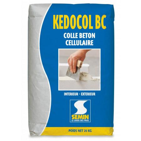 Colle montage bloc béton cellulaire KEDOCOL BC 25kg