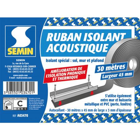 Ruban isolant acoustique 30m