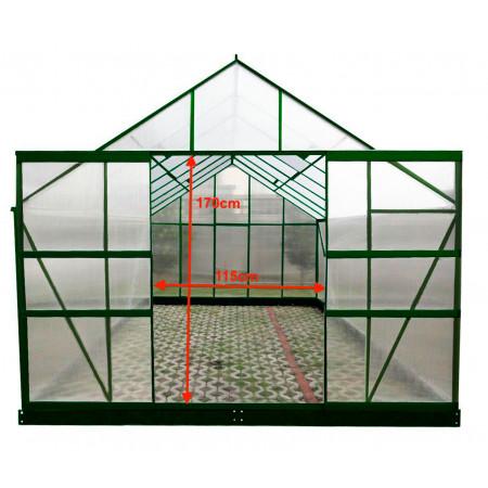 Serre alu et polycarbonate 12,61m² FORESTA SR 4330