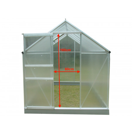 Serre alu et polycarbonate 6,03m² FORESTA SR 1931