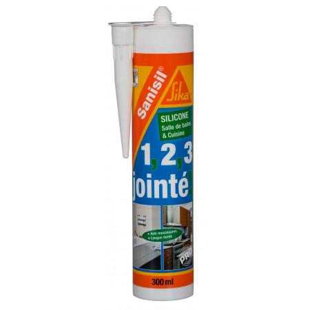 Mastic sanitaires SIKA Sanisil 300ml blanc