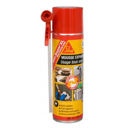 Mousse expansive SIKA Boom® XL multi-positions 500ml