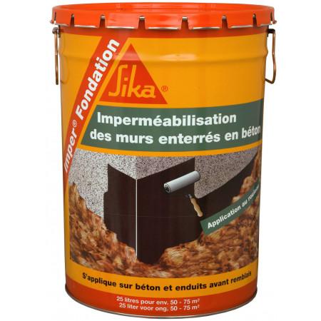 Vernis imperméabilisant fondations noir 25L