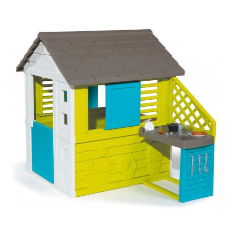 Maison Pretty avec cuisine d'été Smoby