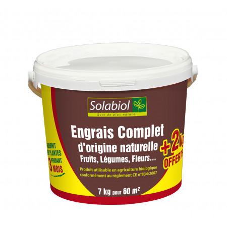 Engrais naturel complet 5kg + 2kg SOLABIOL