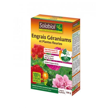 Engrais naturel géraniums 750g SOLABIOL