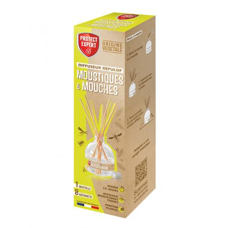 Diffuseur à froid anti-moustiques et anti-mouches 60ml