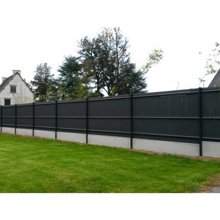 Kit clôture lamelles occultantes L 1,03m gris anthracite