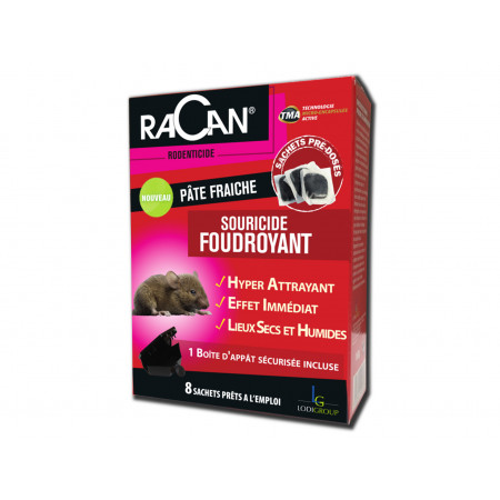 Souricide foudroyant 80g RACAN