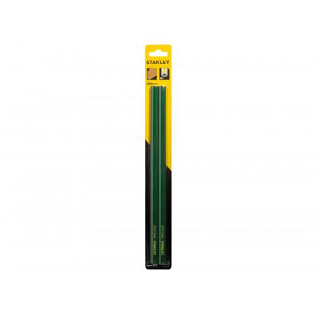 Crayon de maçon 30cm vert STANLEY x2
