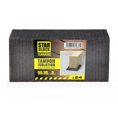 Cales d'isolation lambourdes Starblock® 90x90x8mm x24