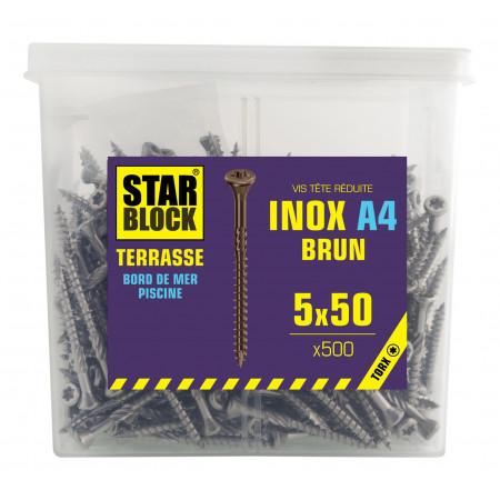 Vis terrasse inox A4 Fix'Box Ø5 L.50 x500
