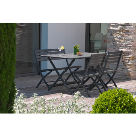 Table de jardin alu Marius 4/6 places Anthracite