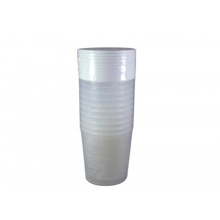 10 pots plastique + couvercles 1kg
