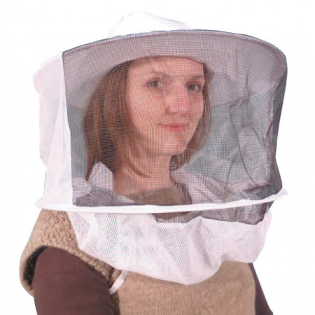 Chapeau d'apiculteur à voile rond 2 armatures