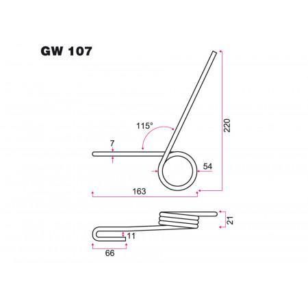 Ressort de semoir NODET GW 107