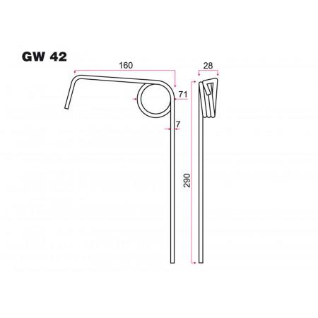 Dent de semoir AMAZONE GW 42
