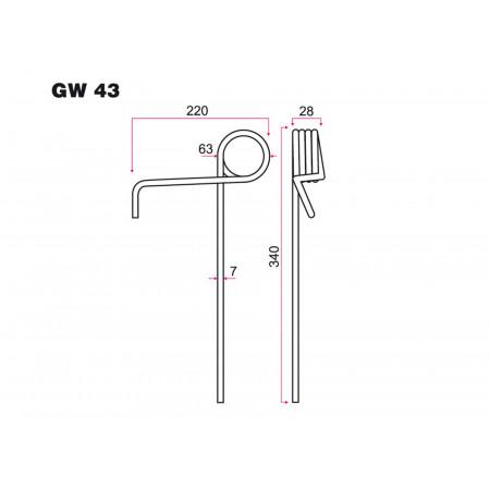Dent de semoir AMAZONE GW 43