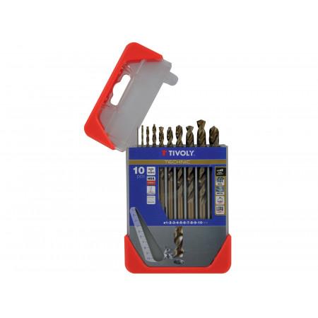 10 forets métal-inox HSS Cobalt Ø 1 à 10