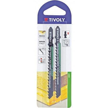 2 lames de scie sauteuse bois tendre agglo T 5 à 50mm