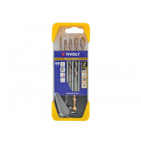 5 forets béton TECHNIC Ø 4 à 10 mm