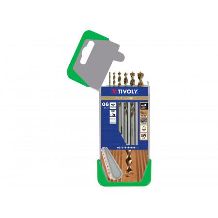 6 forets bois TECHNIC HSS Ø 2 à 8 mm