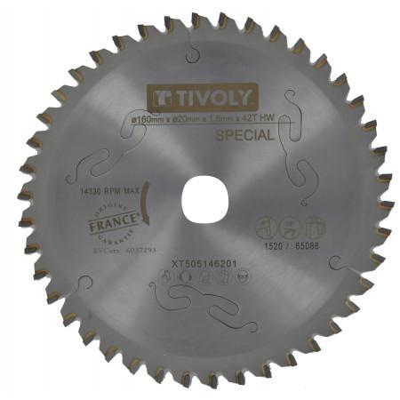 Lame scie circulaire débit Ø160-20 42 dents