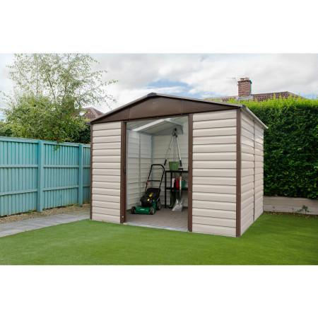 Abri de jardin métal Yardmaster marron 7,18 m²
