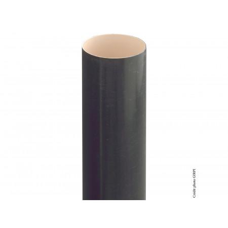 Tube de descente PVC D80 2,8m Ardoise