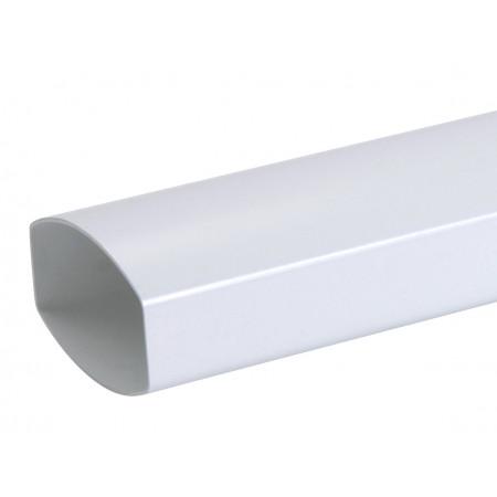 Tube de descente PVC Ondella 90x56 3m Blanc
