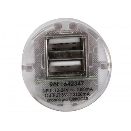 Chargeur 12V 2 ports USB 5V