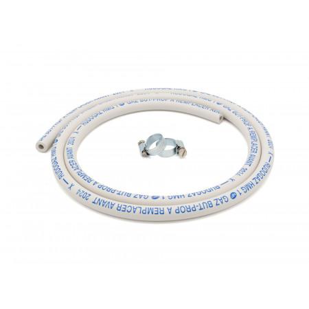 Tuyau gaz butane / propane 1,50m + colliers