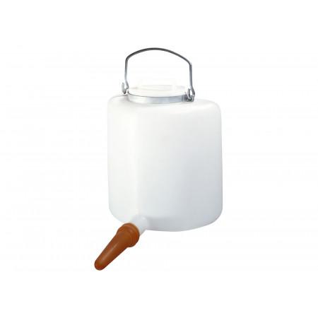 Biberon veau semi-circulaire avec couvercle 6 litres