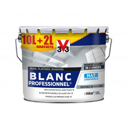 Blanc intérieur blanche V33 PRO MAT 10L + 20% GRATUITS