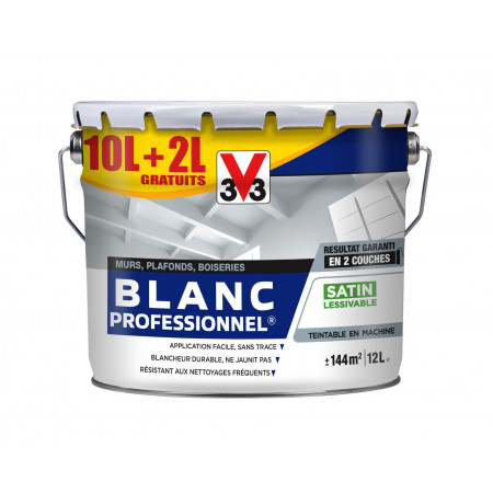 Blanc intérieur blanche V33 PRO SAT 10L + 20% GRATUITS