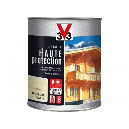 Lasure Haute Protection V33 Incolore 1L
