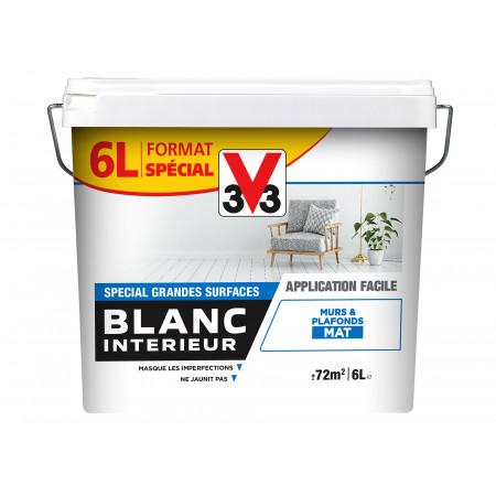 Peinture blanc intérieur mat 6L
