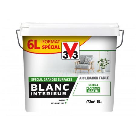 Peinture blanc intérieur satin 6L