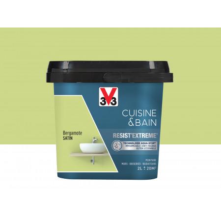 Peinture cuisine & sdb Resist'Extême Satin V33 Bergamote 2L