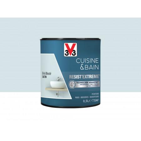 Peinture cuisine & sdb Resist'Extême Satin V33 Gris bleu 0,5L