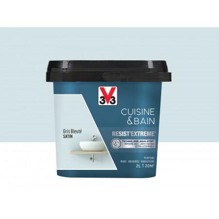 Peinture cuisine & sdb Resist'Extême Satin V33 Gris bleu 2L
