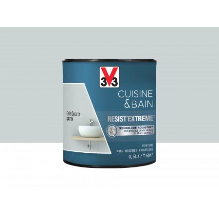 Peinture cuisine & sdb Resist'Extême Satin V33 Gris quartz 0,5L