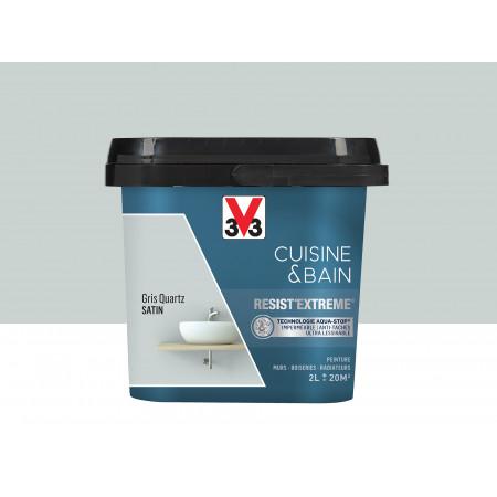 Peinture cuisine & sdb Resist'Extême Satin V33 Gris quartz 2L